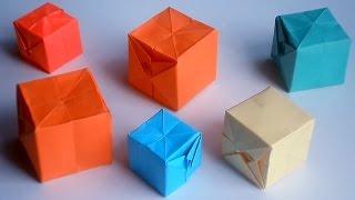 оригами водяная бомба, как сделать из бумаги водяную бомбу //  origami water bomb