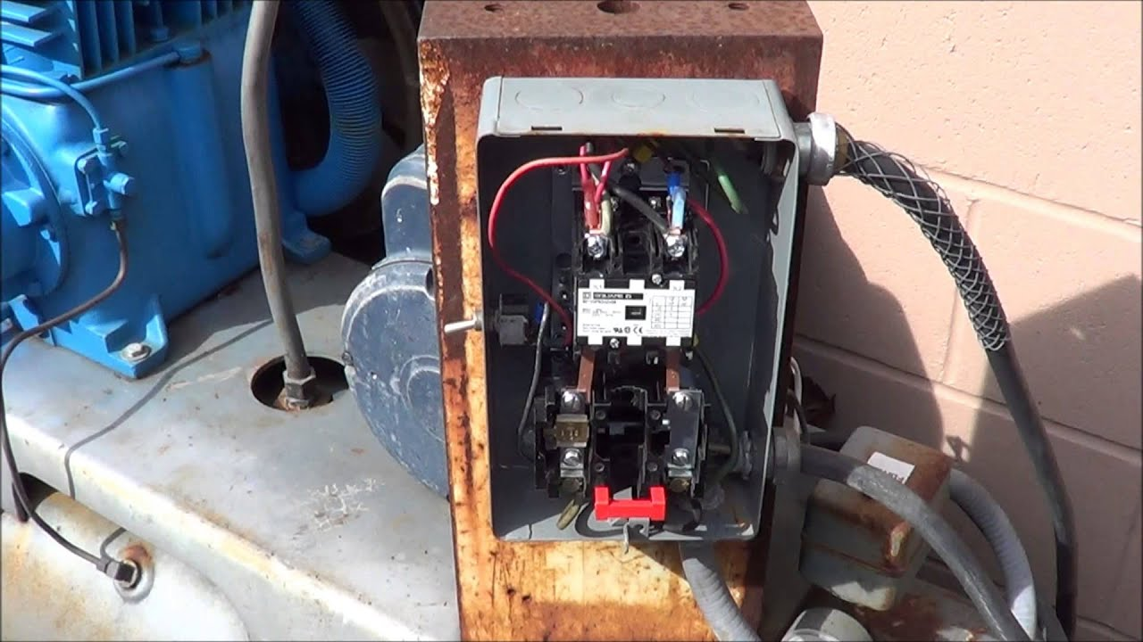 Multi stage compressors & wiring a single phase motor starter - YouTube