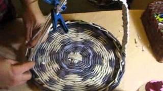 -> Плетение из газет ручек. Часть III. / Handles for baskets