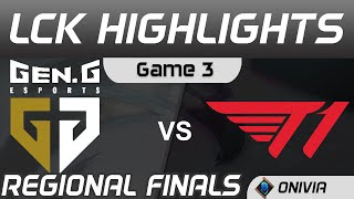 GEN vs T1 Highlights Game 3 Finals LCK Regional Finals 2020 Gen G vs T1 by Onivia