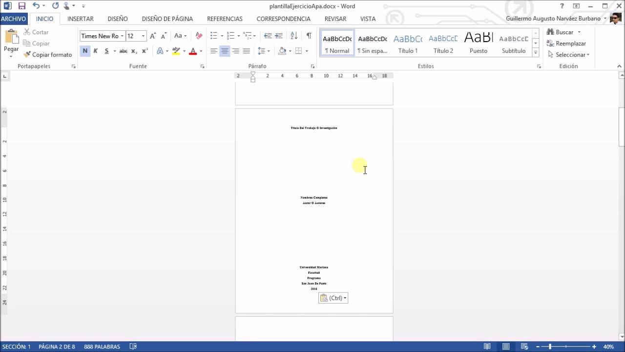 formato normas apa en word - Selo.l-ink.co
