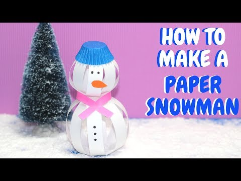 How to Make a Paper Snowman | Christmas Crafts | Paper Ball Snowman
