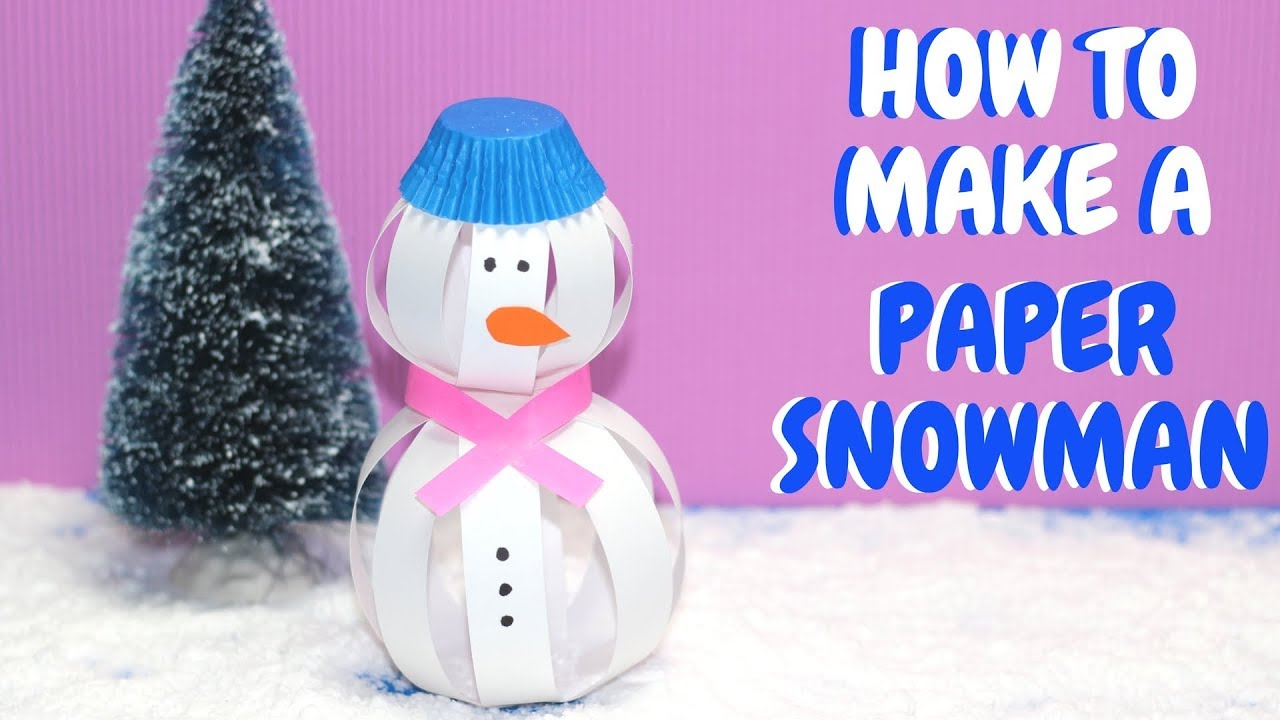 how to make a paper snowman christmas crafts paper ball snowman youtube. Black Bedroom Furniture Sets. Home Design Ideas