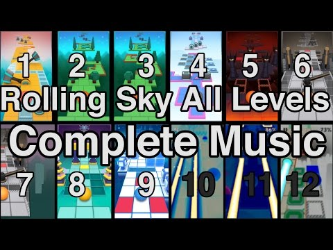 Rolling Sky All Levels 100% Complete