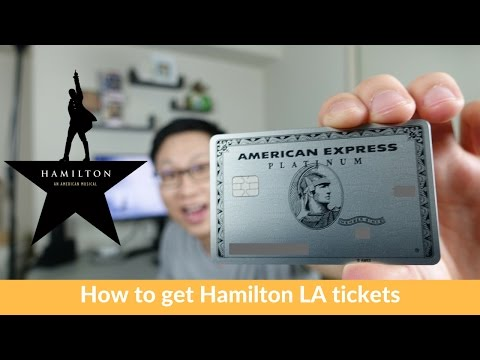 Hamilton LA Tickets For Cheap ($85 To $225)  W/ Amex Platinum Concierge