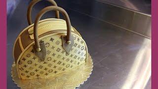 Louis Vuitton Handtaschen Torte - Taschenkuchen Tutorial - Fondant Handtasche - von Kuchenfee