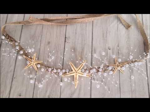 DIY: How To Make Starfish And Pearl Wired Hair Vine