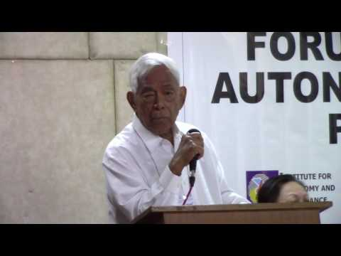 Forum on Federalism, Autonomy, and Mindanao Peace Process
