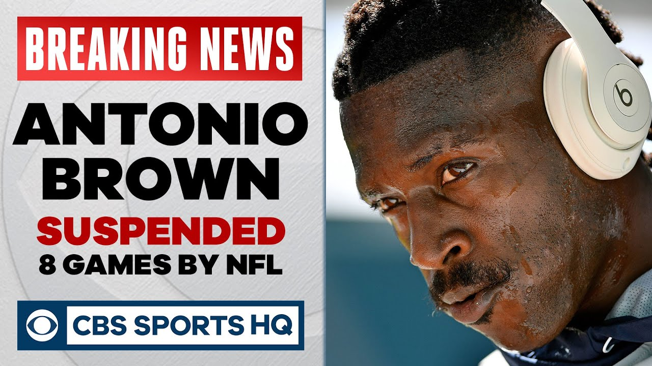 Free-agent WR Antonio Brown suspended eight games