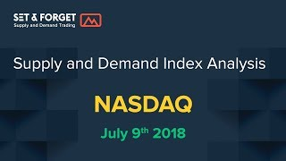 NASDAQ US Index supply and demand analysis 9th July 2018