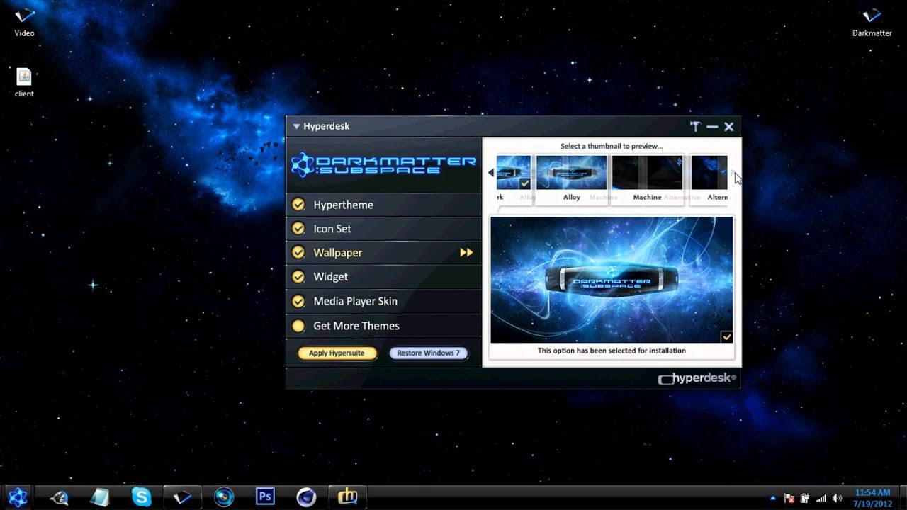 Hyperdesk darkmatter windows 7 free download best theme for Window 07 themes