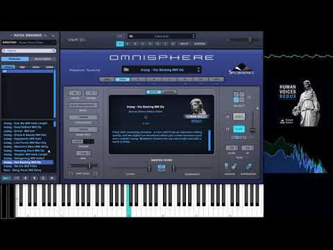 Omnisphere soundset - Human Voices Redux. Complete walkthrough