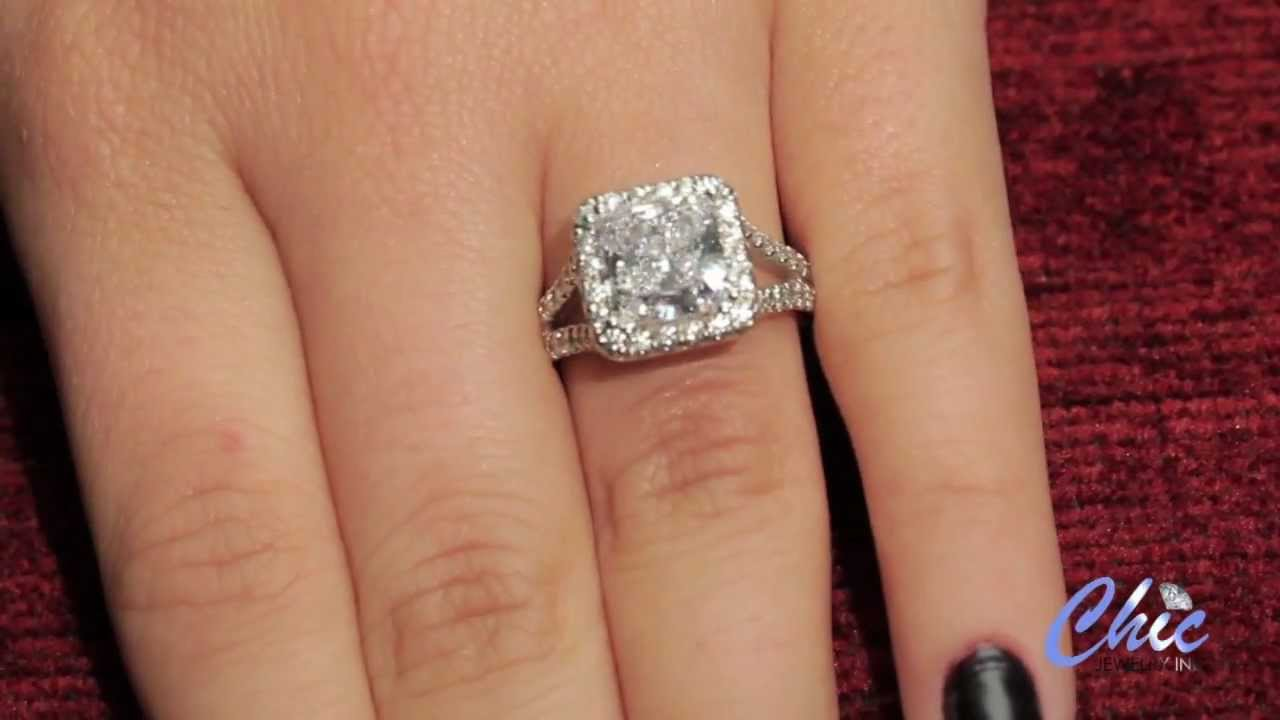 High Prong Engagement Ring