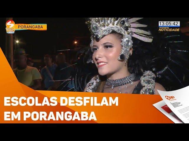 Escolas desfilam na última noite de Carnaval em Porangaba - TV SOROCABA/SBT