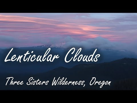 Lenticular Clouds at Sunset, Three Sisters Wilderness, PIka Calls, Oregon, USA
