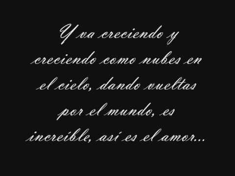 Lyrics containing the term: el amor by tito el bambino