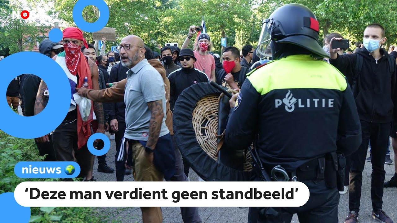 Download Protesten en rellen bij standbeeld J.P.  Coen in Hoorn