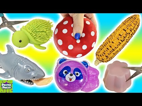 Thumbnail: Cutting OPEN Squishy Foot Eating Shark! Homemade Stress Ball Sparkle Putty Doctor Squish