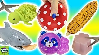 Cutting Open Squishy Foot Eating Shark! Homemade Stress Ball Sparkle Putty Doctor Squish
