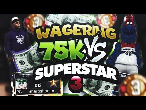 $75,000 WAGER GAME OF 2K VS SUPERSTAR 3 MASCOT SQUAD!!! SERIES OF THE YEAR!!! NBA 2K17