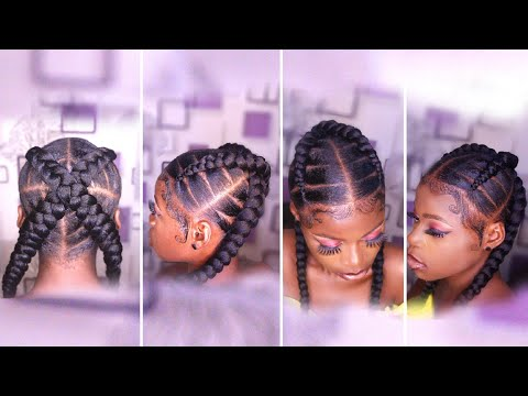 Two Feed In Braids Using Expression Braid Extension - Stitch Braids Tutorial