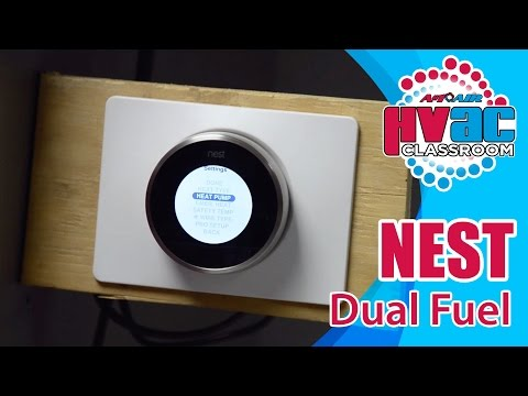 nest thermostat how to setup a nest thermostat for dual fuel youtube Dual Fuel Regulator