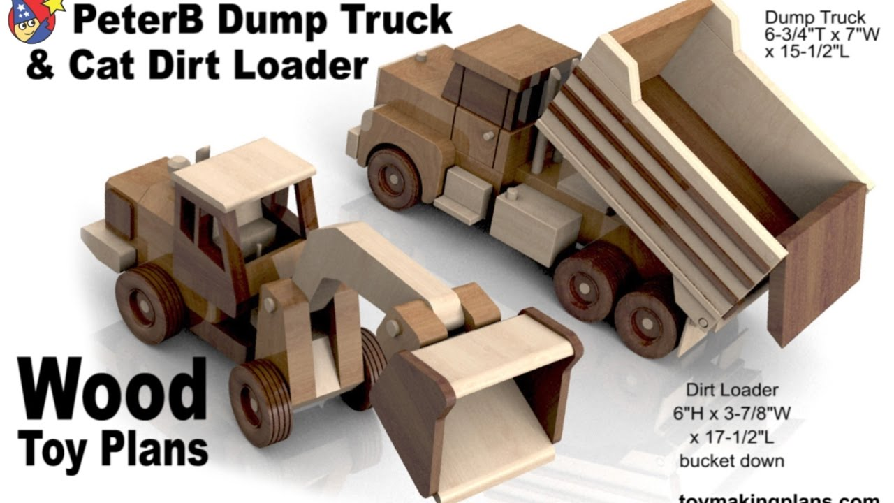 woodworkers toy plans peterb dump truck n cat dirt loader