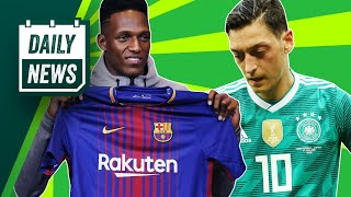 TRANSFER: Yerry Mina to Everton + Ozil Quits Germany ►  Daily Football News
