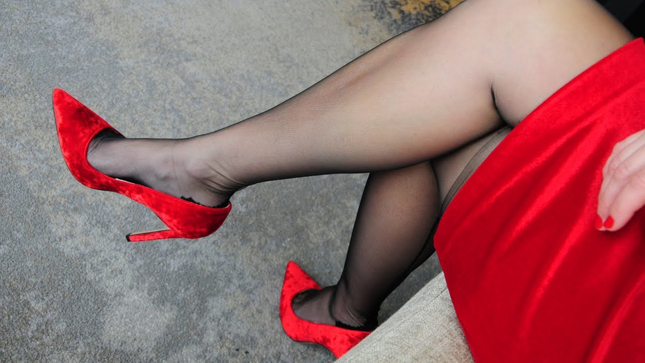Red Dress, Stockings & Heels. Luxury at its best ❤️