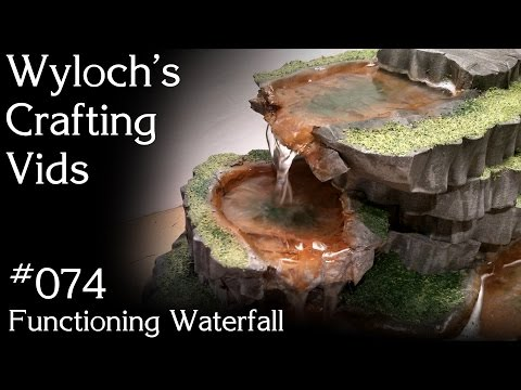 074 - Functioning Waterfall (Warhammer 40k, Dungeons & Dragons and Pathfinder Terrain)
