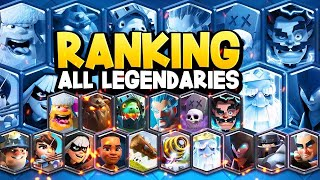 PRO RANKS ALL 18 LEGENDARY CARDS in Clash Royale 2021
