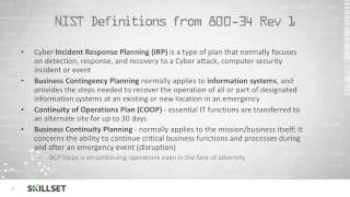 Business Continuity Planning (CISSP Free by Skillset.com)
