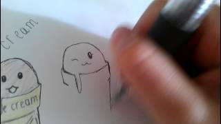 How to draw an easy ice cream Thumbnail