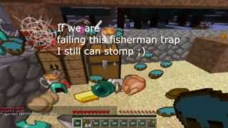 Minecraft Hunger Games - EPIC Fisherman trap w/ EPIC Stomp!