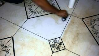 Como desencardir pisos de cerâmica com manchas ? Como limpar pisos  ? - amostras da Goyazlimp