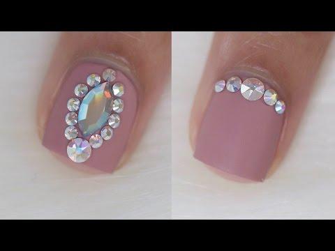 4 easy bling designs for short nails