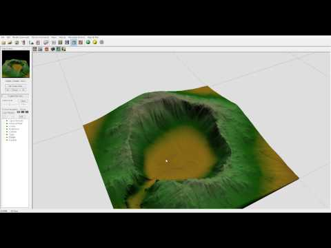 World Machine tutorial, Mountain Lake part one, World Machine and Vue workflow