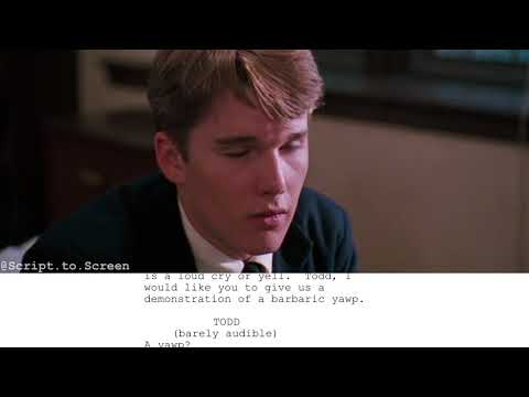 "Dead Poets Society | ""A Sweaty-toothed Madman!"" - Screenplayed"