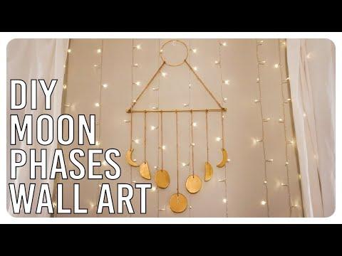 DIY Moon Phases Wall Art Hanging - Boho Inspired
