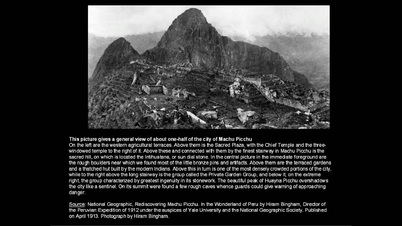 Image result for first photo of machu picchu