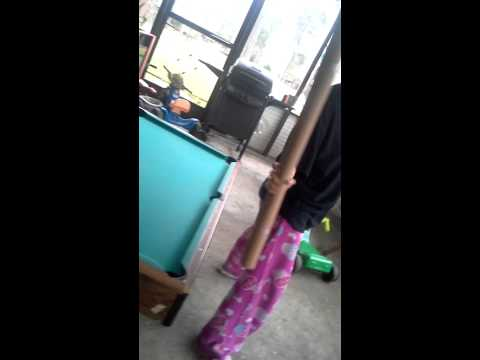 Wrapping paper lightsaber battle