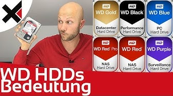 WD Black, Blue, Red, Purple, Gold was die Farben bei Western Digital bedeuten | iDomiX
