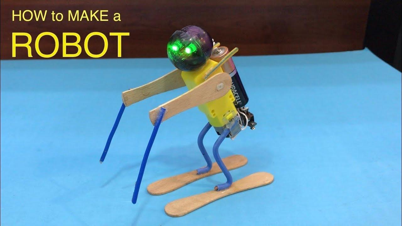 ROBOT YAPIMI - TAKLA ATAN KAYAK YAPAN - ÜÇ KURUŞLUK MALZEME İLE  ROBOT YAPIMI -  ROBOT MAKING
