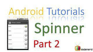 105 Android Spinner Example |