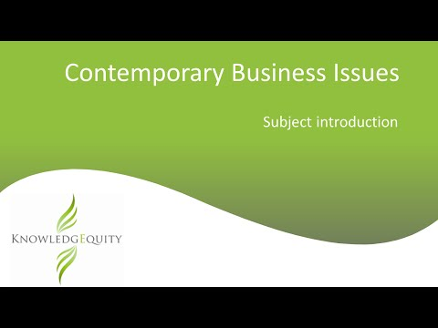 Contemporary Business Issues