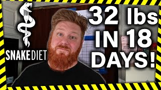 Lost 32 lbs in 18 Days Snake Diet With Snake Juice Fasting The TRUTH