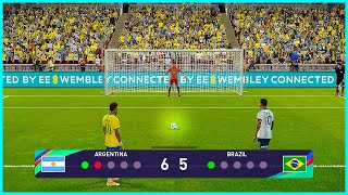 Argentina vs Brazil | Penalty Shootout | World Cup 2022 | PES 2021