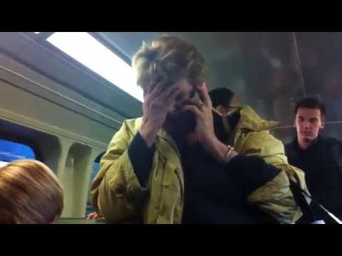 Woman's racist rant against Asian woman filmed on train.