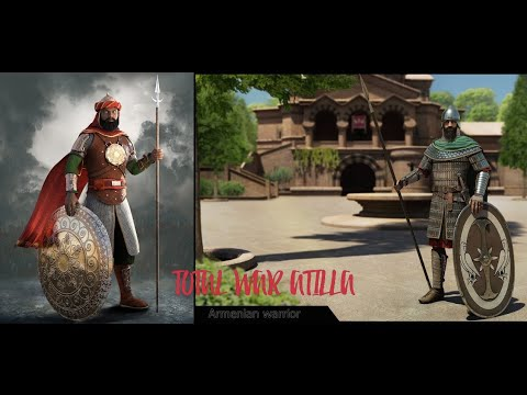 Attila Total War: АРМЕНИЯ: Бессмертные Персии VS армянские копейщики
