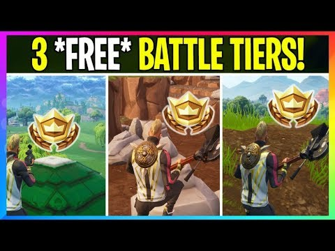 *NEW* Fortnite: **FREE** 3 Battle Star Locations For FREE BATTLE TIERS! Fortnite Battle Royale Leaks
